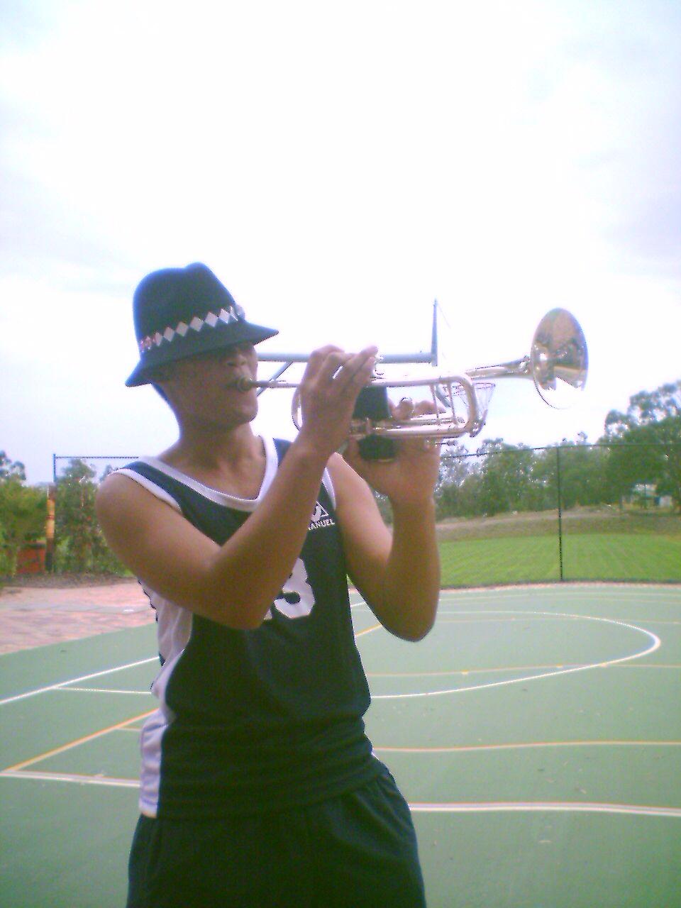 Allegiance - TK with a trumpet