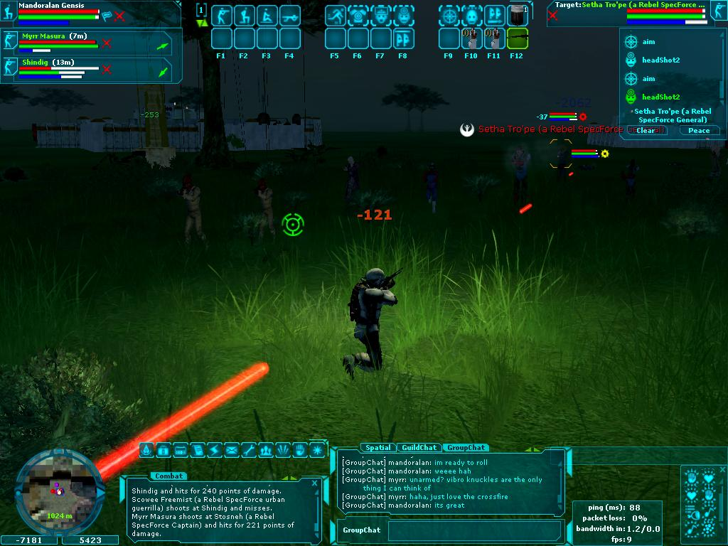 Star Wars Galaxies - Rushing Target Alpha 9
